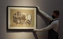 "картина Banksy ""Morons"""